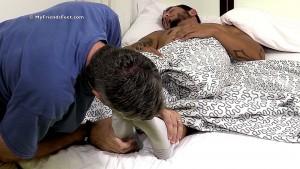 Tattooed Stud RJ Foot Worshiped In His Sleep - mff0574_rjworship 1