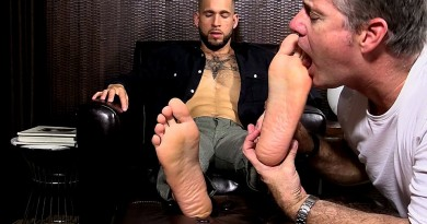 Bearded Stud Tino Gets Foot Worshiped - Tino