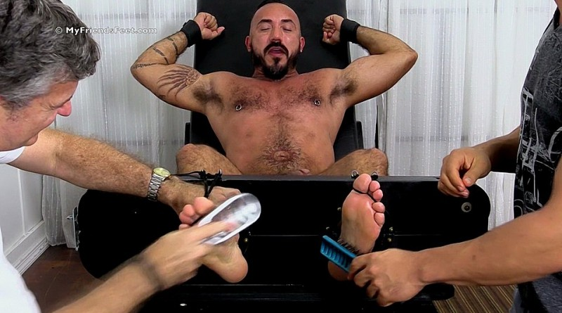 Hairy Stud Alessio Romero Gets Tickle Tortured - mff0577_alessiotic