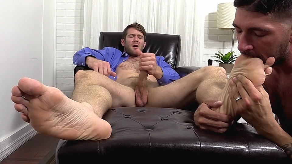Colby keller jerks off while getting his feet worshipped by johnny hazzard best rated gay porn
