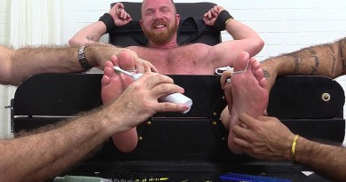 Redheaded Hunk Red Gets Tickled Tortured - Red