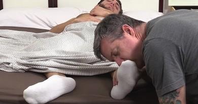 Silas' Socks and Feet Worshiped While He Sleeps - Silas