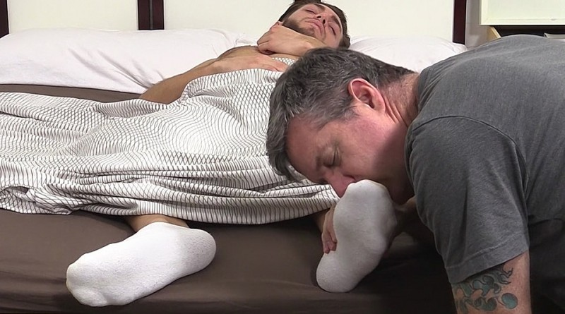 Silas' Socks and Feet Worshiped While He Sleeps - Silas