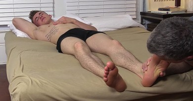 Jake West's Size 10 Feet Worshiped While He Sleeps - Jake