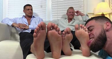 Ricky Worships Johnny and Joey's Feet - Johnny/Joey