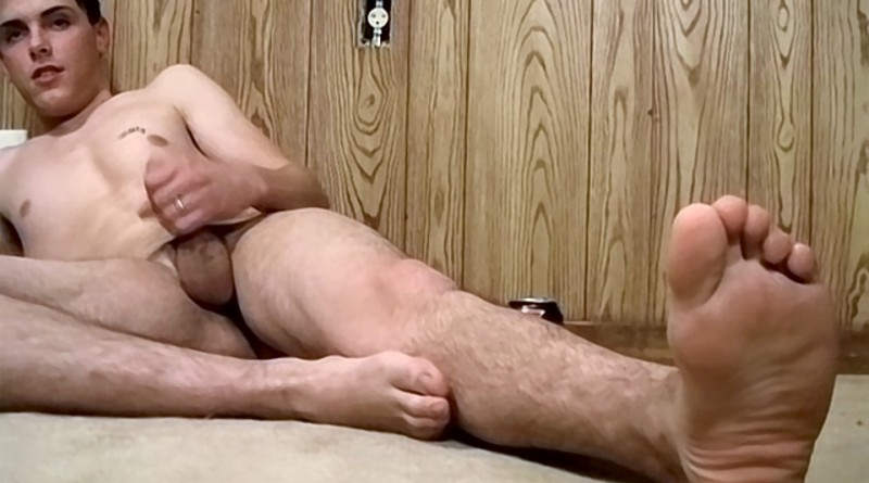 Sticky Boy Feet Coated In Cum - Alexxx