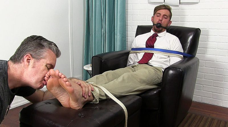 Elijah Tied Up And Foot Worshiped