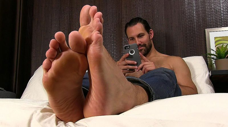 Jet Relaxes In His Flip Flops