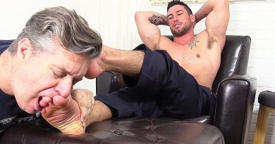 Casey More Demands Worship From His Foot Slave