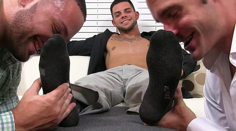 Christian Foot Worshiped by Julian and Cameron 1