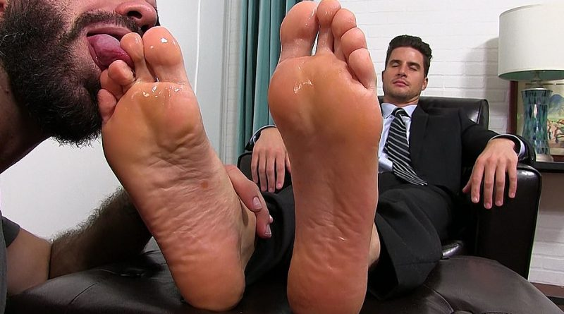 Suited Sergey's Sheer Socks Serviced