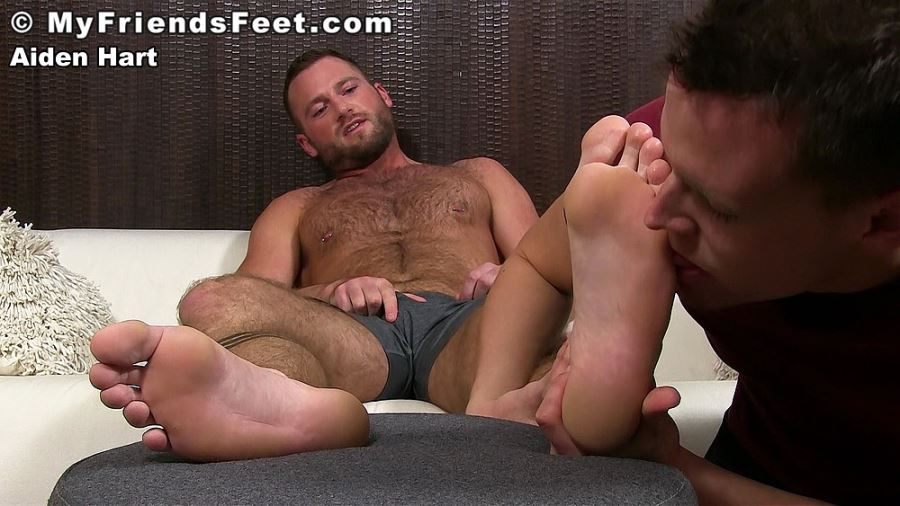 Aiden Hart's Foot Worshiped By Nathan