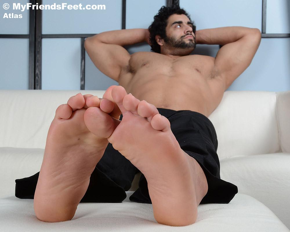 Atlas' Size 14s & Flip-Flops
