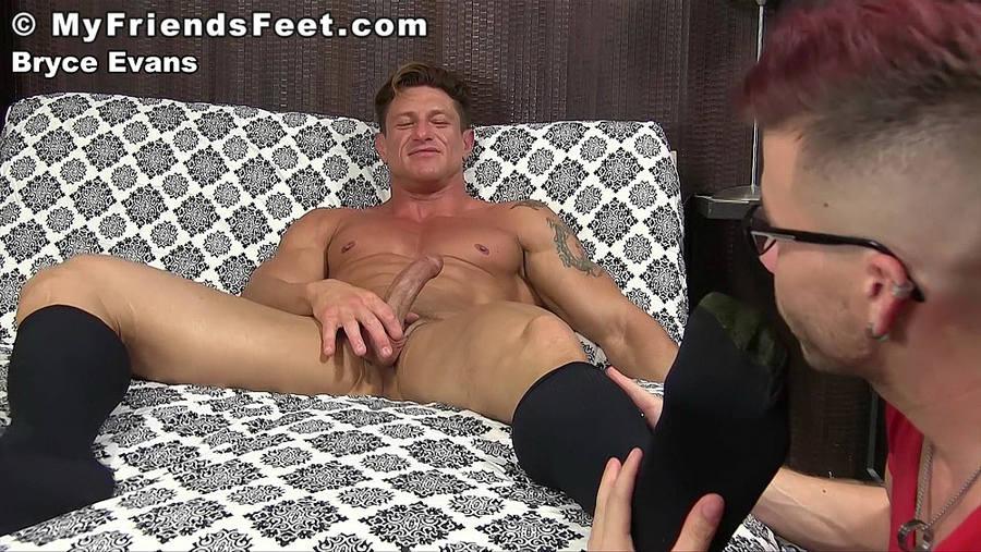 Bryce Evans Explores His Gay Foot Fetish