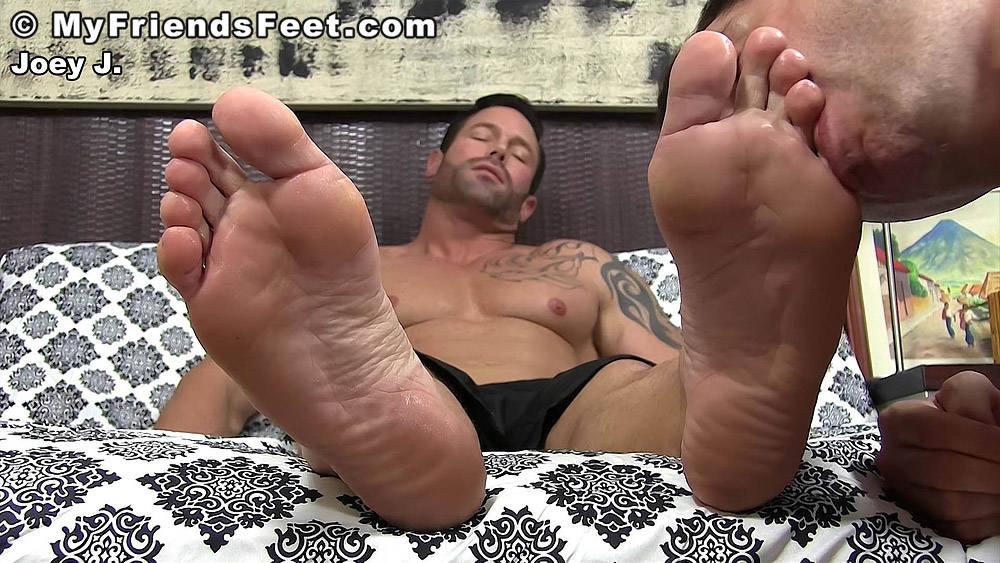 Joey J's Size 12 Gay Feet Worshiped