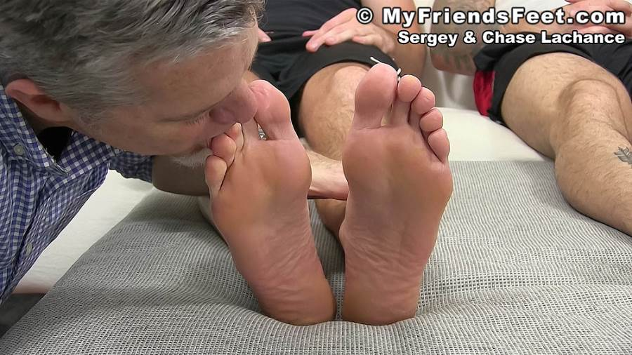 Chase Lachance and Sergey Foot Worshiped