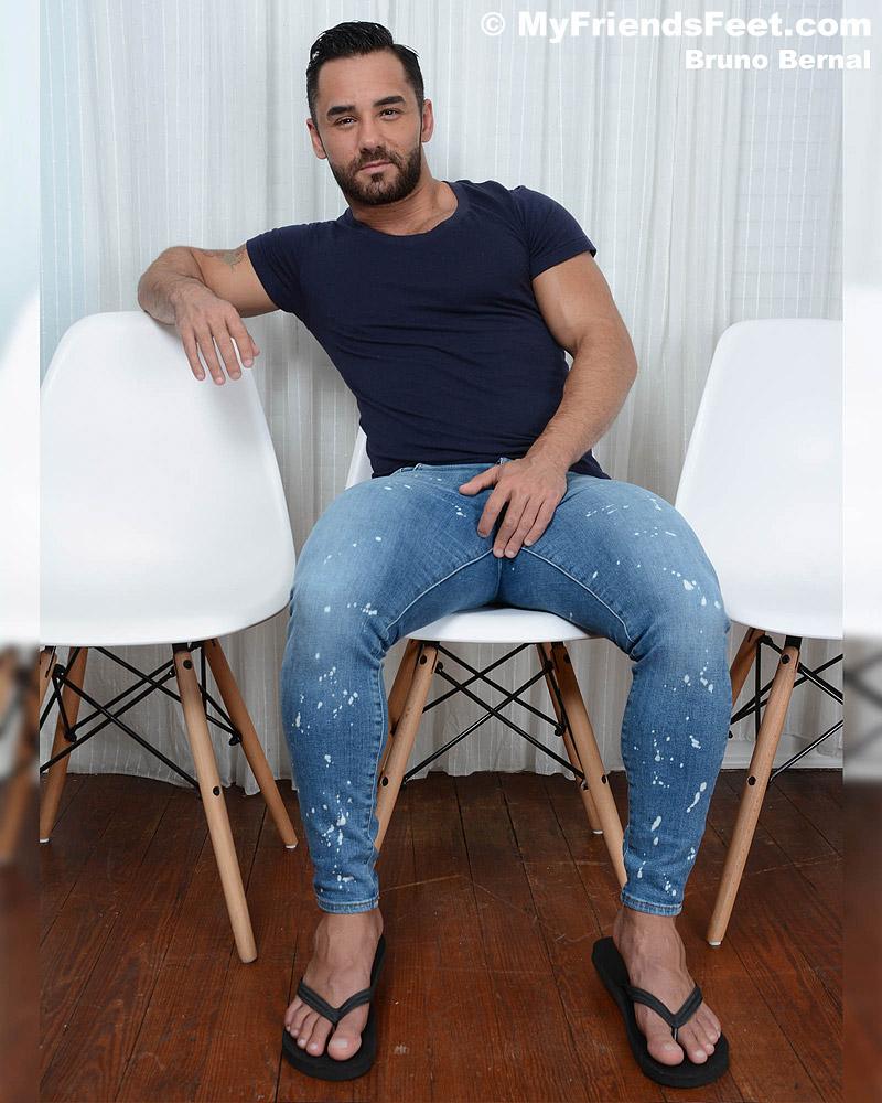 Bruno Bernal's Feet & Flip-Flops