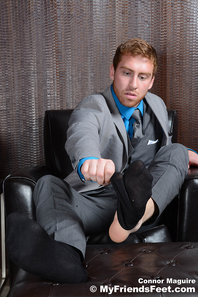 Connor Maguire - Suited, Socked & Barefoot 5