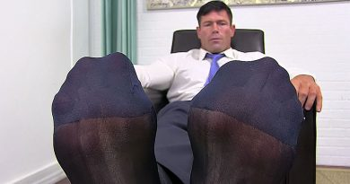 Joey Shows His Sheer Socks & Feet - Joey 1