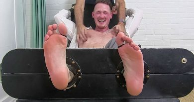 Jackson Cooper Tickled In Sheer Socks