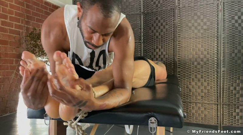 Alpha Wolfe's Big Feet Tickled