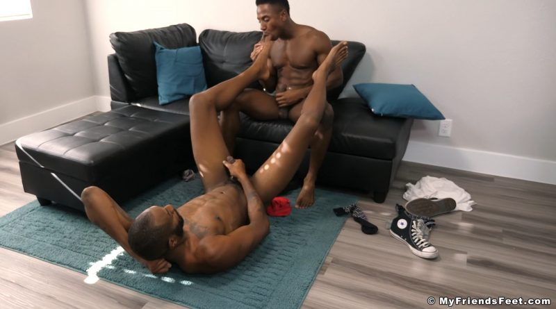 Liam Cyber Gets Off On August Alexander's Feet