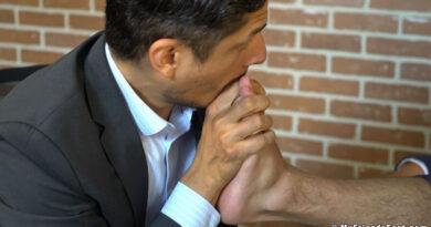 Businessman James Fox Worshiped By Rocky Vallarta